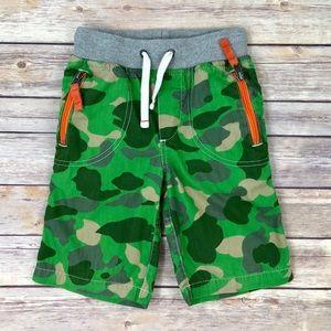 Mini Boden: Green Camouflaged Adventure Shorts